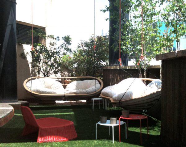 Circa Doubles hanging outside in a sunny garden