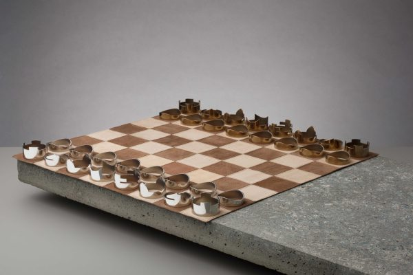 rawstudio's luxury chess set made in England from softest leather and steel